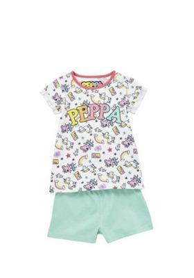 Peppa Pig Rainbow Pyjamas White/Multi 2-3 years