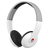 Skullcandy Uproar Wireless On Ear Headphones with TapTech White-Grey-Red