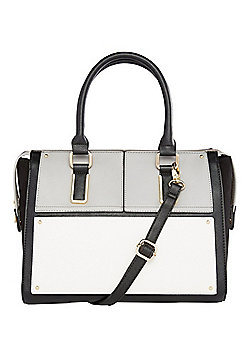 F&F Colour Block Square Tote Bag