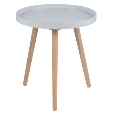Grey Pine Wood & MDF Round Table Large K/D