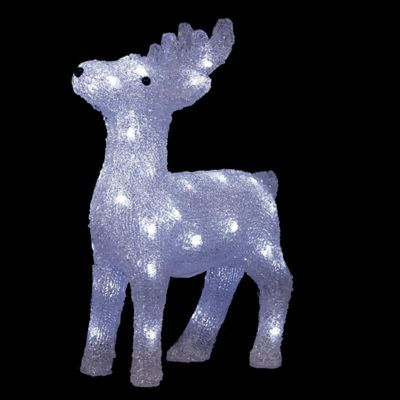 Premier 38cm Acrylic Reindeer with 40 White LED Lights