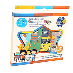 Little Baby Bum Bandana Dribble Teething Bibs (Boys 4 pack) by Zippy Baby, Soft and Absorbent, Newborn to Toddler