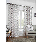 Marseille Eyelet Lined Curtains - Natural