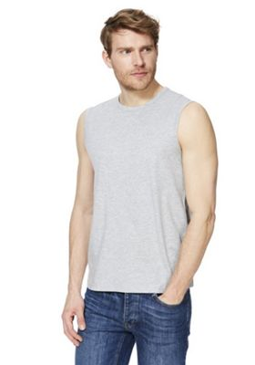 F&F Tank Vest Top with As New Technology Grey Marl 2XL