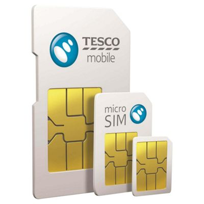 Tesco Mobile 4G Triple Credit Pay As You Go Sim Card