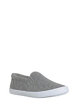 F&F Slip-On Plimsolls - Grey