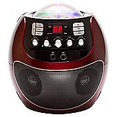 Goodmans Portable LED Display Karaoke Machine - Red