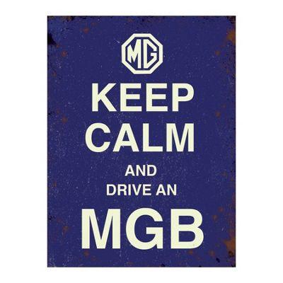 Original Metal Sign Co Mini, Keep Calm MG 15 x 20cm