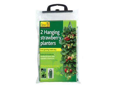 Gardman 09128 Hanging Strawberry Planter X2