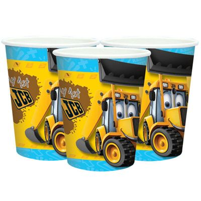 JCB Party Paper Cups 266ml - 8 Pack