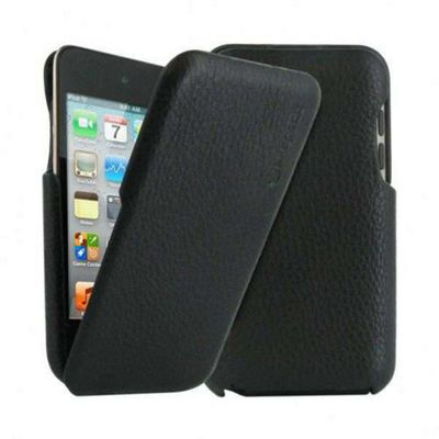 Exspect Leather Hard Flip Case (Black) for 4th Generation iPod Touch