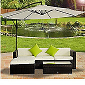Outsunny Rattan Garden Furniture Corner Sofa Mixed Brown