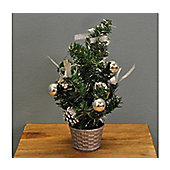 Christmas 30cm Silver Dressed Table Top Tree