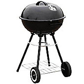 "17"" Charcoal Kettle Round Trolley Black BBQ Grill"