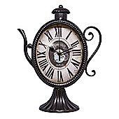 Quirky Espresso Coffee Pot Free Standing Clock - Black