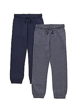 F&F 2 Pack of Drawstring Joggers - Blue