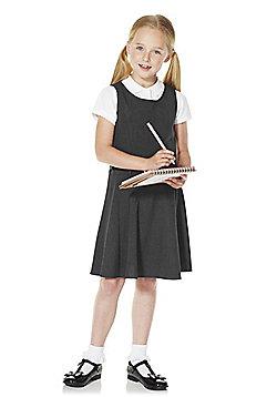 F&F School Girls Belted Pinafore - Grey