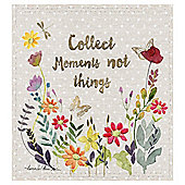 Collect Moments Embroidered Canvas