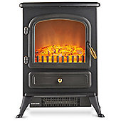 VonHaus 1850W Portable Stove Heater Fire Place - Black
