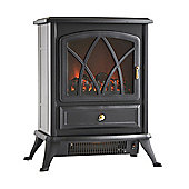 VonHaus 1800W Portable Electric Stove Heater Fire Place / Fireplace - Log Burning Flame Effect