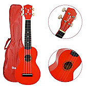 Stagg US10 Ukulele with Free Bag - Red
