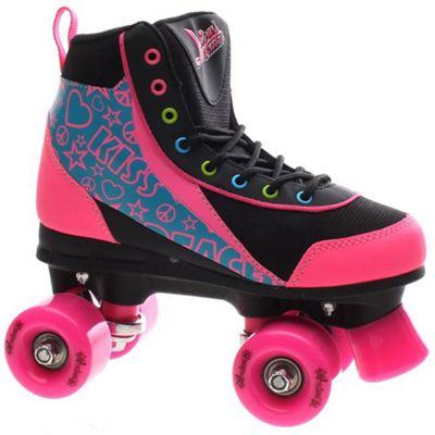 Luscious Retro Quad Roller Skates - Disco Diva - JNR 13