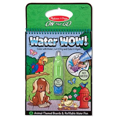 Melissa And Doug On The Go Water Wow Book Animal Green