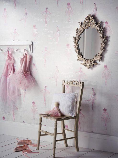 Pirouette Ballet Wallpaper Pink Arthouse 666200
