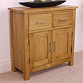 Nebraska Modern Oak Sideboard / Mini Oak 2 Door 2 Drawer Sideboard