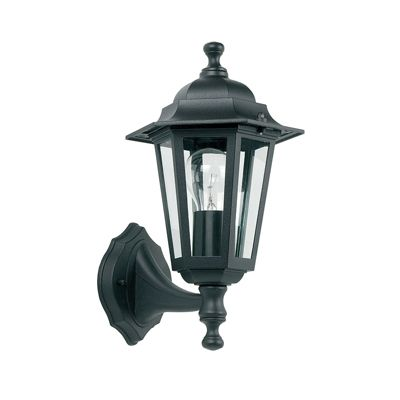Spengler Uplight 1 Light 60W Wall Light Matte Black Paint