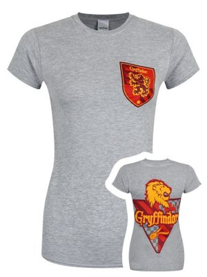 Harry Potter House Gryffindor Women's Grey T-shirt