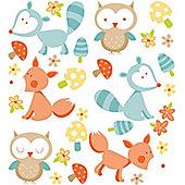 Forest Friends, 29 Stickers - Orange