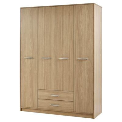 Kimpton 4 Door Wardrobe, Oak