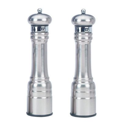 William Bounds Heavy Metal Professional Salt and Pepper Mill Set 31cm