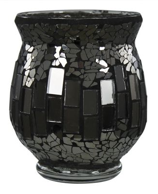 Black Mosaic Hurricane Tealight Holder