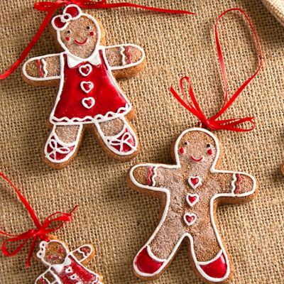 Set of Two Gingerbread Decorations
