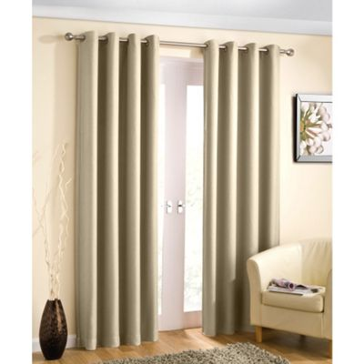 Enhanced Living Wetherby Cream Eyelet Curtains - 66x72 Inches (168x183cm)