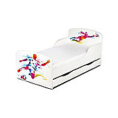 PriceRightHome Football Player Toddler Bed With Underbed Storage