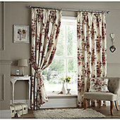 Curtina Milldale Red Lined Curtains - 90x54 Inches (229x137cm)