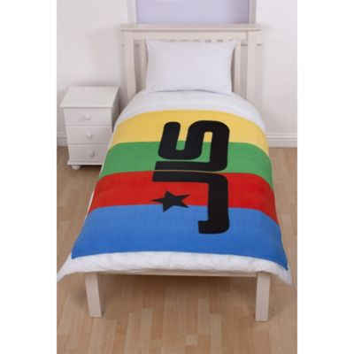 JLS 'Jukebox' Panel Fleece Blanket