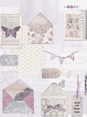 PS I Love You Wallpaper - Lilac - Arthouse 671201