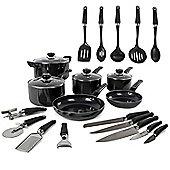 Morphy Richards 6 piece Pan with 14 Piece Tool Set - Black