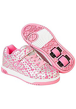 Heelys X2 Dual Up - Silver Hearts - Silver