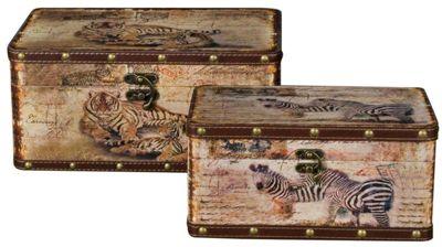 Set of 2 Safari Storage Boxes