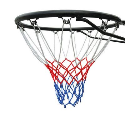 Official Size (45cm) Basketball Ring, Hoop Net and Wall Mounting Fixings