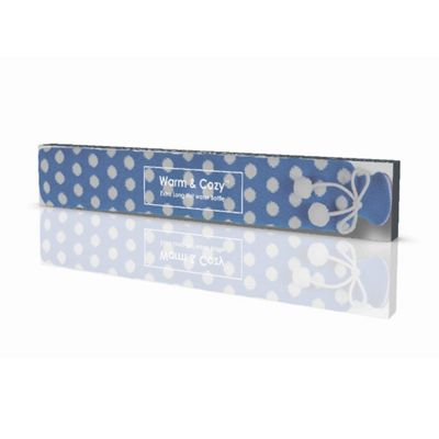 Warmies Blue Polka Dot Extra Long PVC Hot Water Bottle Flexible and Odour Free