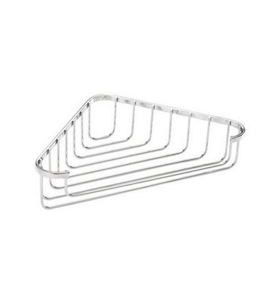 Croydex Stainless Steel Corner Basket - Chrome - Fixings Included