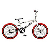 Rooster Big Daddy 20 BMX White/Red with Spoke Wheels