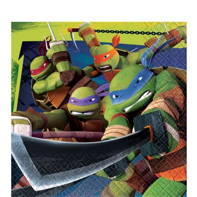 Ninja Turtles Napkins - 2ply Paper - 16 Pack