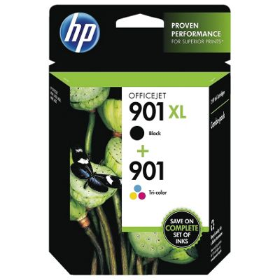 HP 901XL (Black) Ink Cartridge + 901 Tri-Colour Ink Cartridge (Combo Pack)